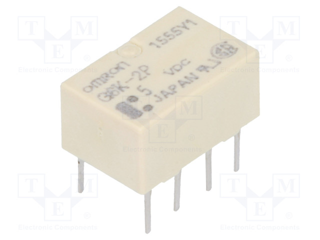 G6K-2P 5VDC_Relay: electromagnetic; DPDT; Ucoil:5VDC; 0.3A/125VAC; 1A/30VDC
