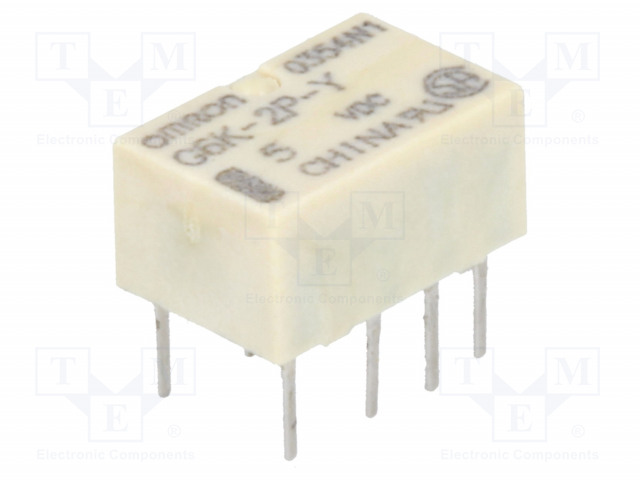 G6K-2P-Y 5VDC_Relay: electromagnetic; DPDT; Ucoil:5VDC; 0.3A/125VAC; 1A/30VDC