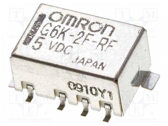 G6KU-2F-RF 5VDC_Relay: electromagnetic; DPDT; Ucoil:5VDC; 0.3A/125VAC; 1A/30VDC