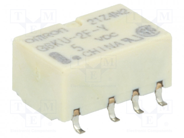 G6KU-2F-Y 5VDC_Relay: electromagnetic; DPDT; Ucoil:5VDC; 0.3A/125VAC; 1A/30VDC