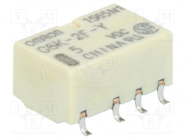 G6K-2F-Y 5VDC_Relay: electromagnetic; DPDT; Ucoil:5VDC; 0.3A/125VAC; 1A/30VDC