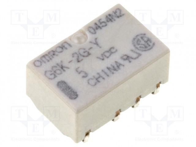 G6K-2G-Y 5VDC_Relay: electromagnetic; DPDT; Ucoil:5VDC; 0.3A/125VAC; 1A/30VDC