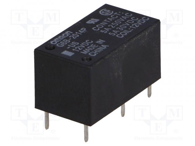 G6B-2014P-US 12VDC_Relay: electromagnetic; DPST-NC; Ucoil:12VDC; 5A/250VAC; 5A/30VDC