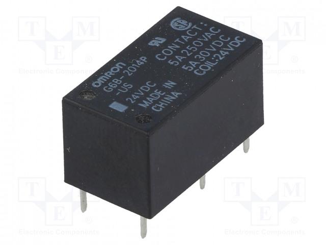 G6B-2014P-US 24VDC_Relay: electromagnetic; DPST-NC; Ucoil:24VDC; 5A/250VAC; 5A/30VDC