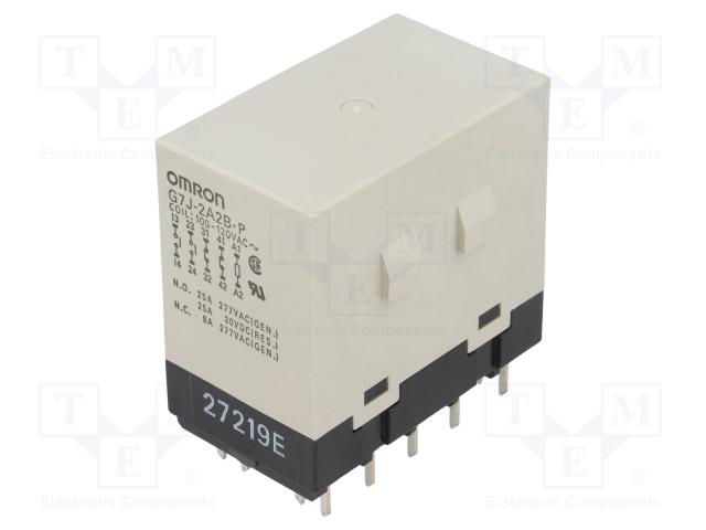 G7J-2A2B-P 100/120VAC_Relay: electromagnetic; DPST-NO + DPST-NC; Ucoil:120VAC; 25A