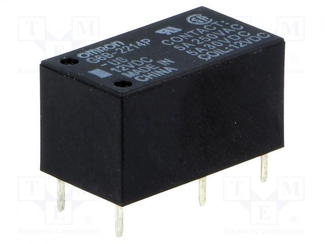 G6B-2214P-US 12VDC_Relay: electromagnetic; DPST-NO; Ucoil:12VDC; 5A/250VAC; 5A/30VDC