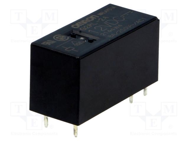 G2RL-2A 12VDC_Relay: electromagnetic; DPST-NO; Ucoil:12VDC; 8A/250VAC; 8A/24VDC