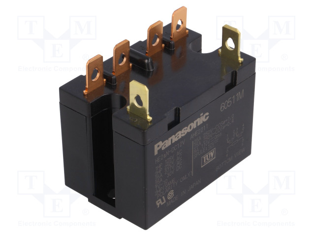 HE2AN-DC12V_Relay: electromagnetic; DPST-NO; Ucoil:12VDC; Icontacts max:25A