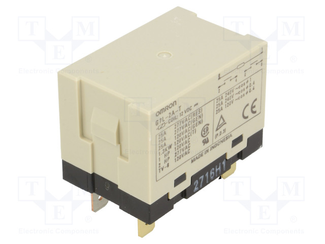 G7L-2A-T 12VDC_Relay: electromagnetic; DPST-NO; Ucoil:12VDC; Icontacts max:25A