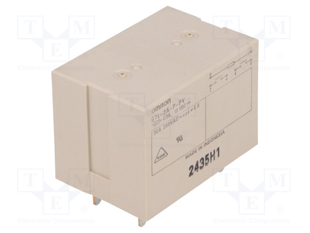G7L-2A-P-PV 12VDC_Relay: electromagnetic; DPST-NO; Ucoil:12VDC; Icontacts max:30A