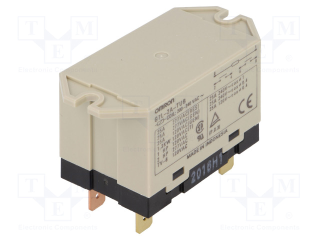 G7L-2A-TUB 200/240VAC_Relay: electromagnetic; DPST-NO; Ucoil:230VAC; Icontacts max:25A