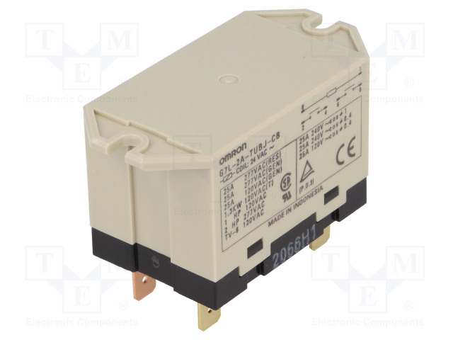 G7L-2A-TUBJ-CB 24VAC_Relay: electromagnetic; DPST-NO; Ucoil:24VAC; Icontacts max:25A