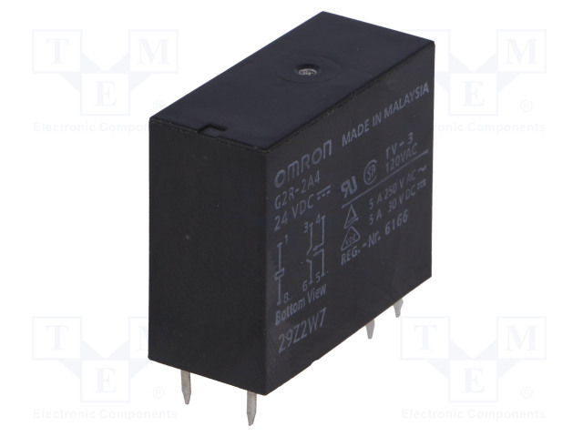 G2R-2A4 24VDC_Relay: electromagnetic; DPST-NO; Ucoil:24VDC; 4A/250VAC; 4A/30VDC