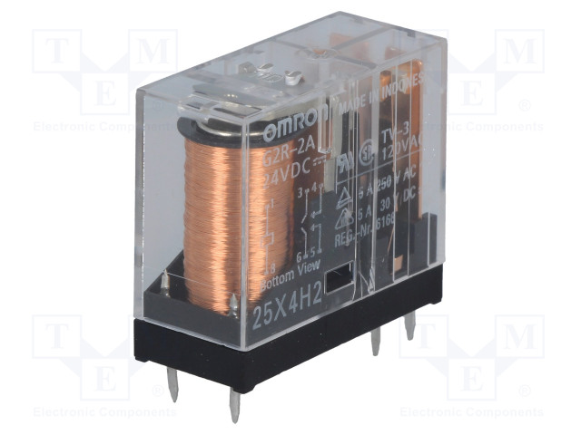 G2R-2A 24VDC_Relay: electromagnetic; DPST-NO; Ucoil:24VDC; 5A/250VAC; 5A/30VDC