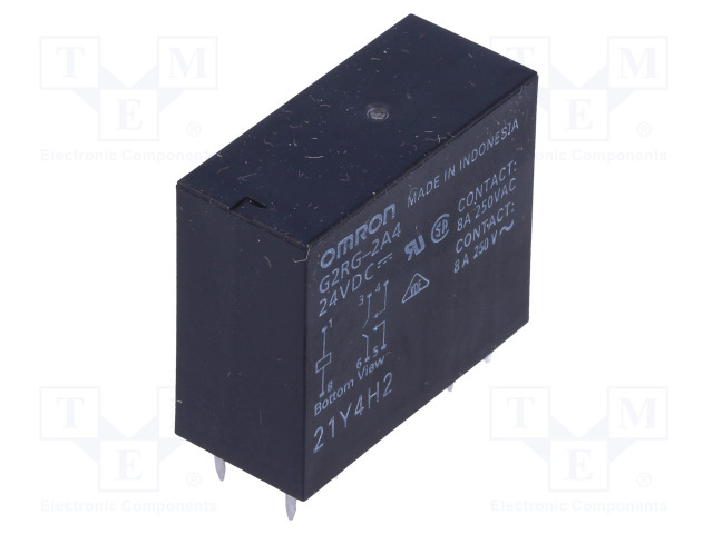 G2RG-2A4 24VDC_Relay: electromagnetic; DPST-NO; Ucoil:24VDC; 8A/250VAC; 8A/24VDC