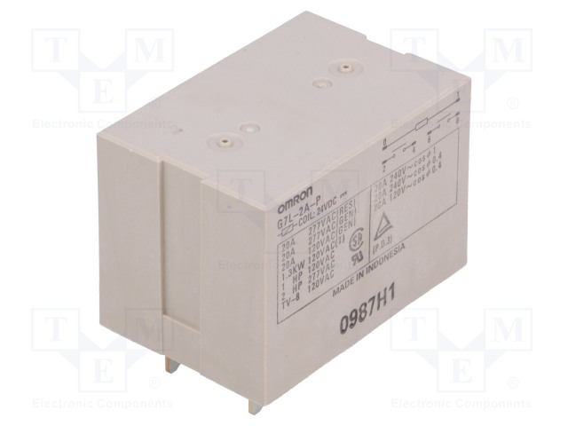 G7L-2A-P 24VDC_Relay: electromagnetic; DPST-NO; Ucoil:24VDC; Icontacts max:20A