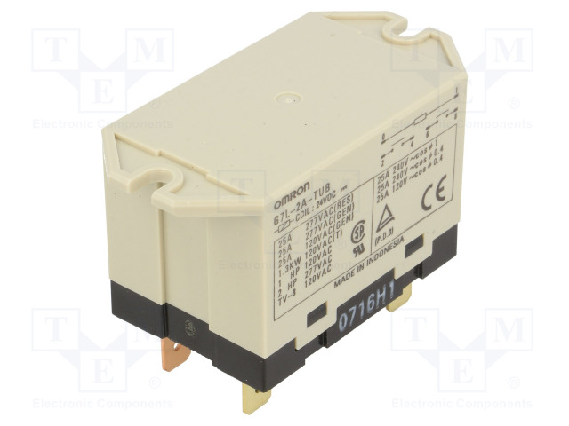 G7L-2A-TUB 24VDC_Relay: electromagnetic; DPST-NO; Ucoil:24VDC; Icontacts max:25A