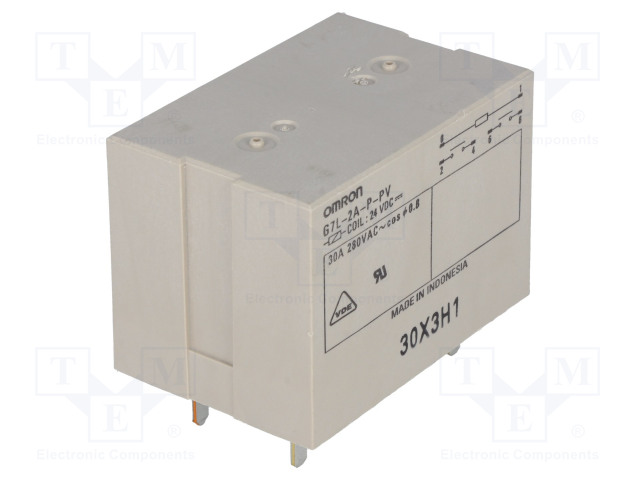 G7L-2A-P-PV 24VDC_Relay: electromagnetic; DPST-NO; Ucoil:24VDC; Icontacts max:30A
