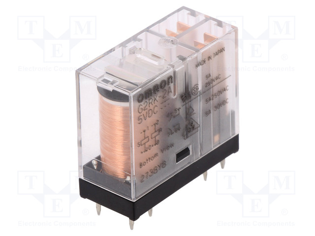 G2RK-2A 5VDC_Relay: electromagnetic; DPST-NO; Ucoil:5VDC; 3A/250VAC; 3A/30VDC