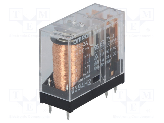 G2R-2A 9VDC_Relay: electromagnetic; DPST-NO; Ucoil:9VDC; 10A; max.250VAC