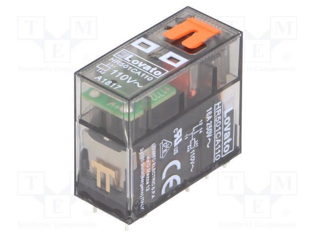 HR501CA110_Relay: electromagnetic; SPDT; Ucoil:110VAC; 16A/250VAC; 12A/30VDC