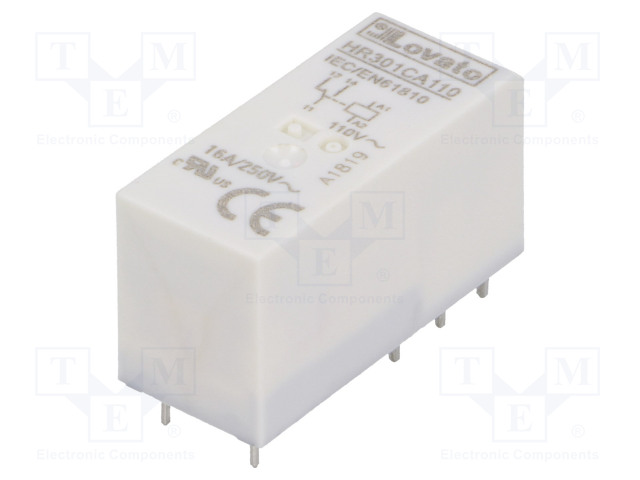 HR301CA110_Relay: electromagnetic; SPDT; Ucoil:110VAC; 16A/250VAC; 12A/30VDC