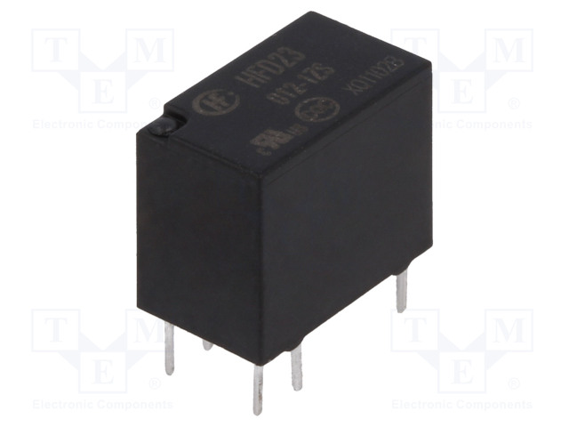 HFD23/012-1ZS_Relay: electromagnetic; SPDT; Ucoil:12VDC; 0.5A/125VAC; 1A/30VDC