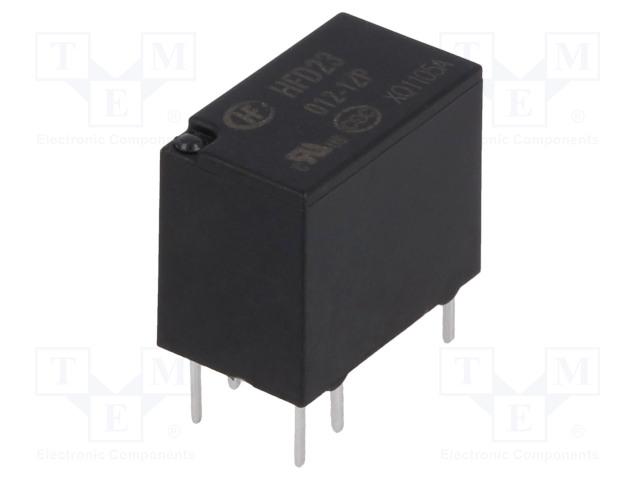 HFD23/012-1ZP_Relay: electromagnetic; SPDT; Ucoil:12VDC; 0.5A/125VAC; 1A/30VDC