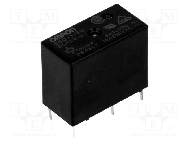 G5Q-1-EU 12VDC_Relay: electromagnetic; SPDT; Ucoil:12VDC; 10A/250VAC; 5A/30VDC