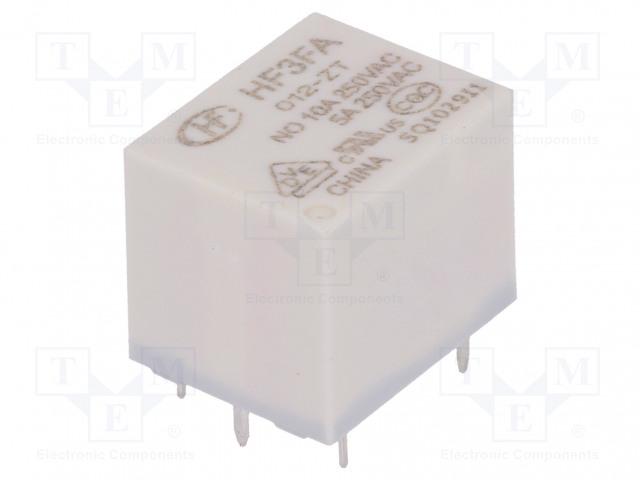 HF3FA/012-ZT_Relay: electromagnetic; SPDT; Ucoil:12VDC; 10A/277VAC; 10A/28VDC