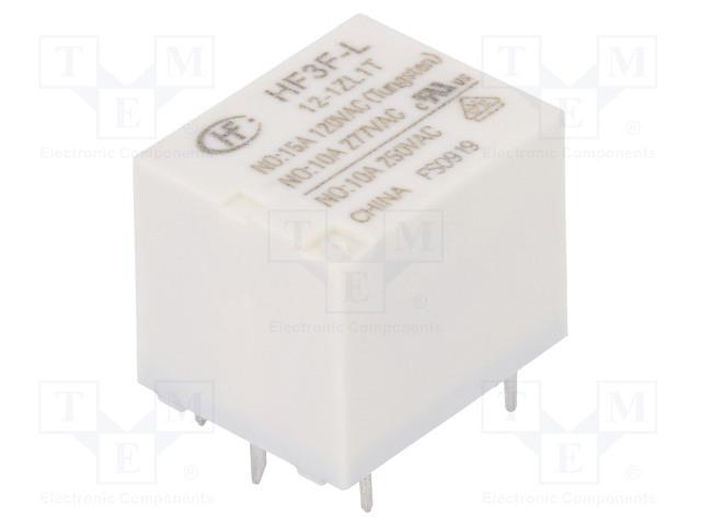 HF3F-L/12-1ZL1T_Relay: electromagnetic; SPDT; Ucoil:12VDC; 10A/277VAC; 10A/30VDC
