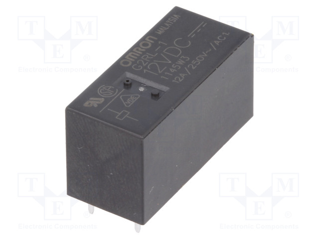 G2RL-1 12VDC_Relay: electromagnetic; SPDT; Ucoil:12VDC; 12A/250VAC; 12A/24VDC