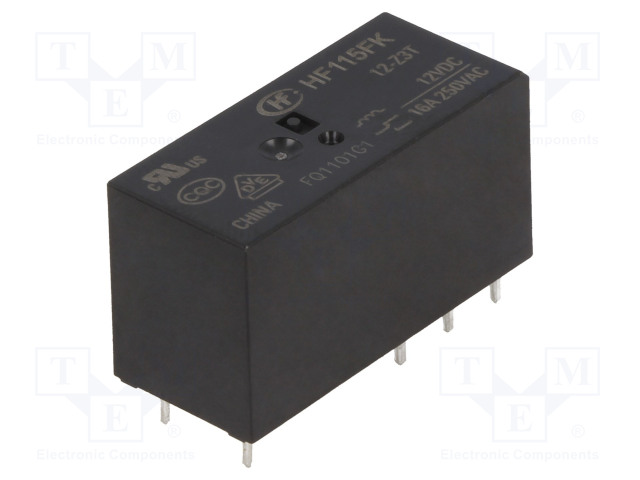 HF115FK/12-Z3T_Relay: electromagnetic; SPDT; Ucoil:12VDC; 16A/250VAC; 16A; 400mW