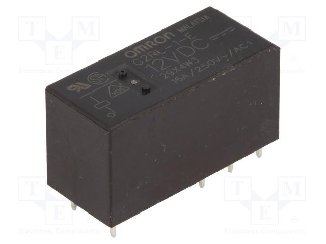 G2RL-1-E 12VDC_Relay: electromagnetic; SPDT; Ucoil:12VDC; 16A/250VAC; 16A/24VDC