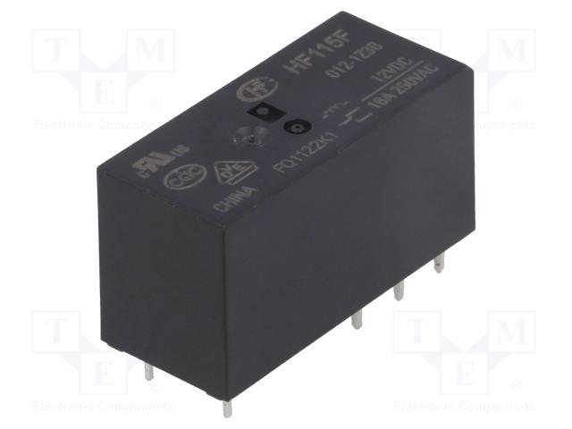 HF115F/012-1Z3B_Relay: electromagnetic; SPDT; Ucoil:12VDC; 16A/250VAC; 16A/24VDC