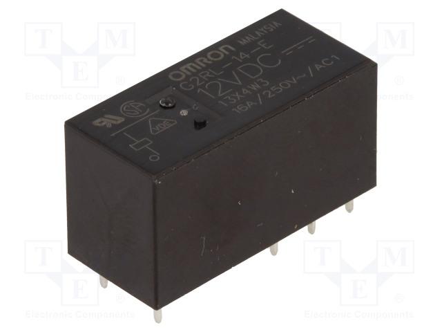 G2RL-14-E 12VDC_Relay: electromagnetic; SPDT; Ucoil:12VDC; 16A/250VAC; 16A/24VDC