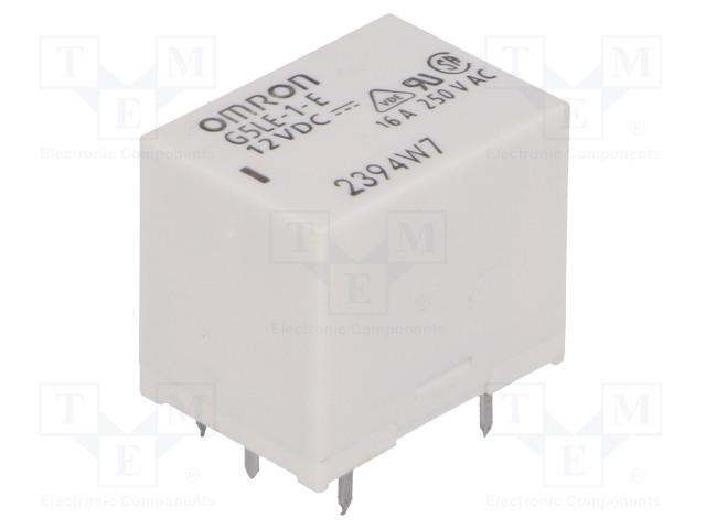 G5LE-1-E 12VDC_Relay: electromagnetic; SPDT; Ucoil:12VDC; 16A/250VAC; max.250VAC