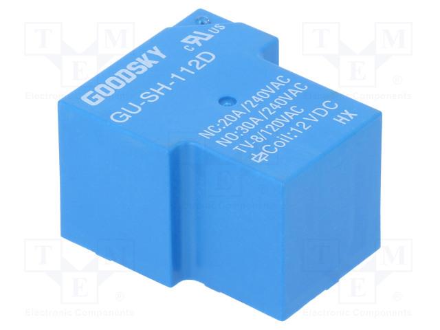 GU-SH-112D_Relay: electromagnetic; SPDT; Ucoil:12VDC; 30A; Series: GU; 930mW