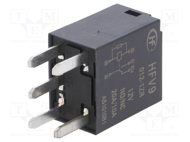 HFV9/012-1ZR_Relay: electromagnetic; SPDT; Ucoil:12VDC; 30A; automotive; 109Ω