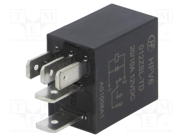HFV6/012ZSL-TD_Relay: electromagnetic; SPDT; Ucoil:12VDC; 30A; automotive; 124Ω