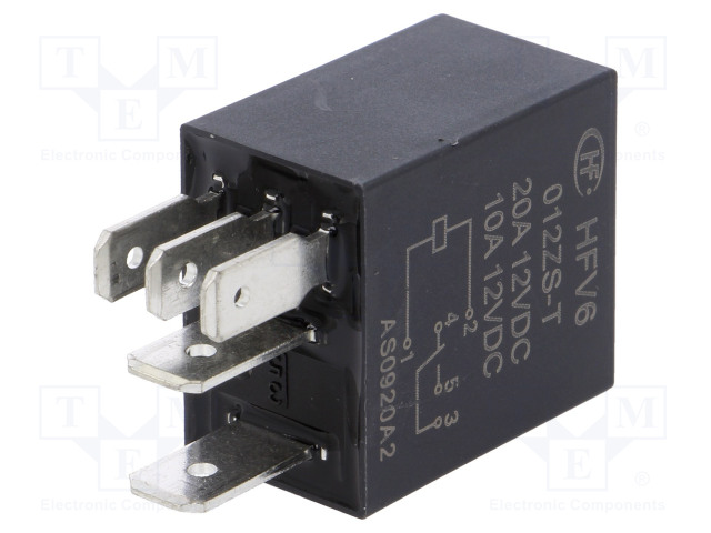 HFV6/012ZS-T_Relay: electromagnetic; SPDT; Ucoil:12VDC; 30A; automotive; 90Ω