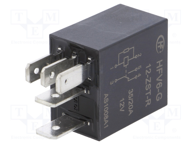 HFV6-G/12-ZST-R_Relay: electromagnetic; SPDT; Ucoil:12VDC; 35A; automotive; 124Ω