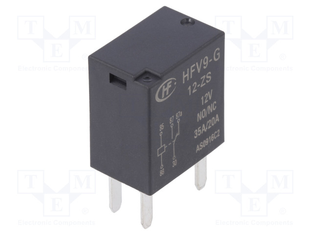 HFV9-G/12-ZS_Relay: electromagnetic; SPDT; Ucoil:12VDC; 35A; automotive; 124Ω