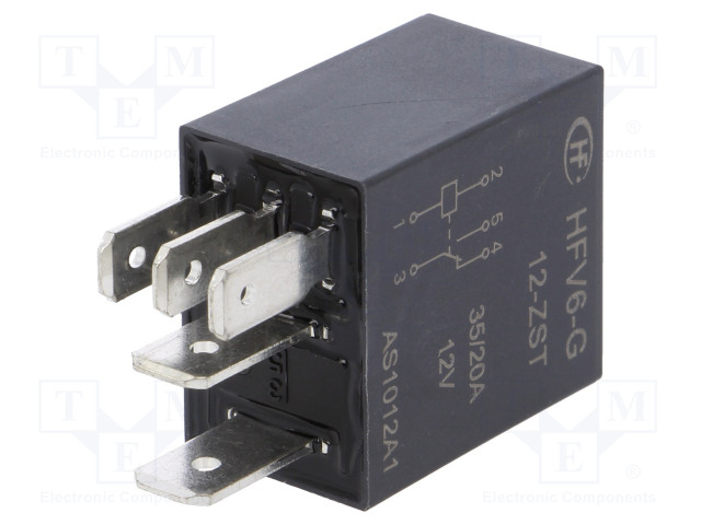 HFV6-G/12-ZST_Relay: electromagnetic; SPDT; Ucoil:12VDC; 35A; automotive; 124Ω