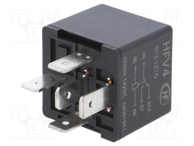 HFV4/012-1Z1G_Relay: electromagnetic; SPDT; Ucoil:12VDC; 60A; automotive; 85Ω