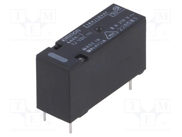 G6RN-1 12VDC_Relay: electromagnetic; SPDT; Ucoil:12VDC; 8A/250VAC; 5A/30VDC