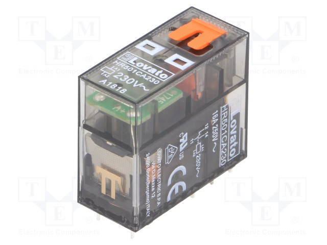 HR501CA230_Relay: electromagnetic; SPDT; Ucoil:230VAC; 16A/250VAC; 12A/30VDC