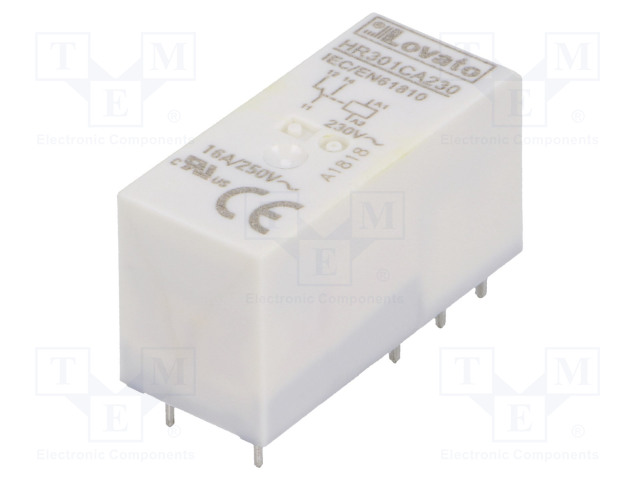 HR301CA230_Relay: electromagnetic; SPDT; Ucoil:230VAC; 16A/250VAC; 12A/30VDC