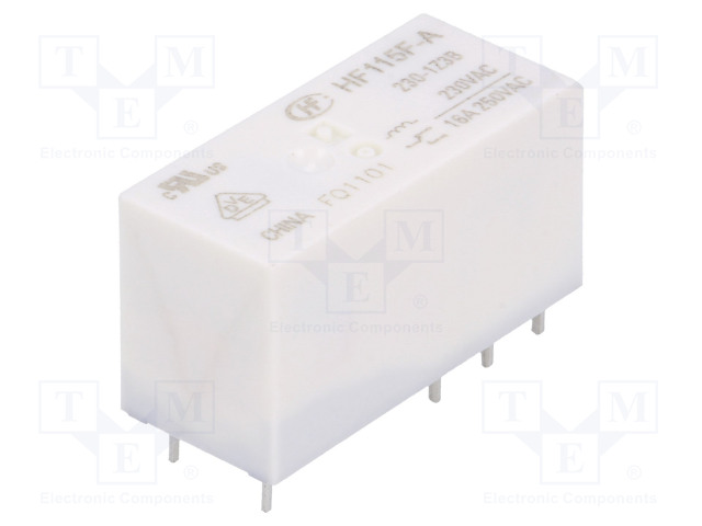 HF115F-A/230-1Z3B_Relay: electromagnetic; SPDT; Ucoil:230VAC; 16A/250VAC; 16A/24VDC