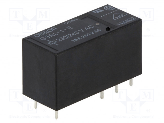 G5RL-1-E230/240AC_Relay: electromagnetic; SPDT; Ucoil:230VAC; 16A/250VAC; 16A/24VDC